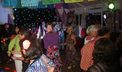 Party  at the village hall